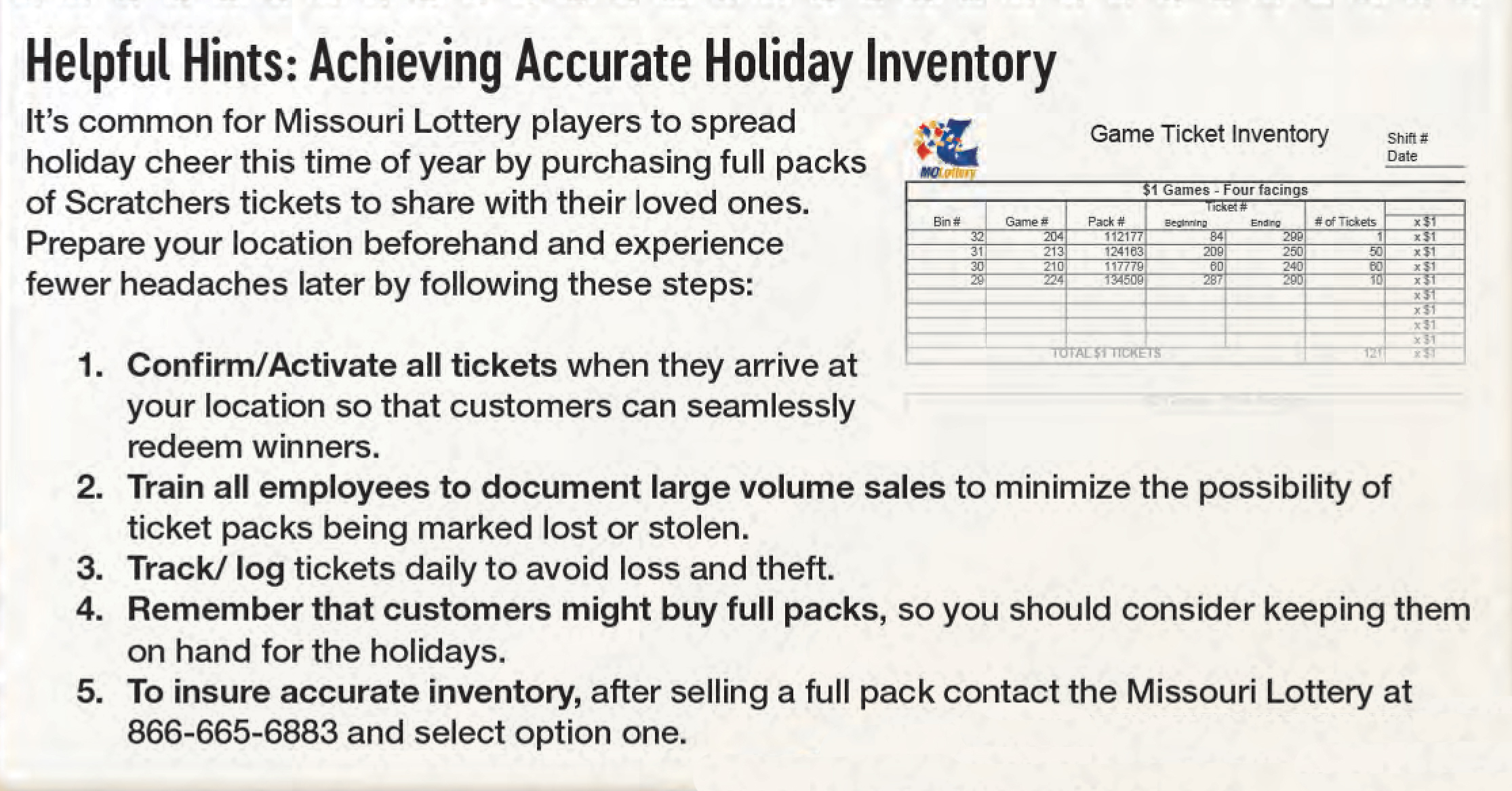 inventory tips