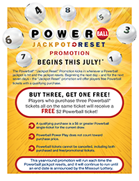 Powerball Jackpot Reset Promotion Sell-In
